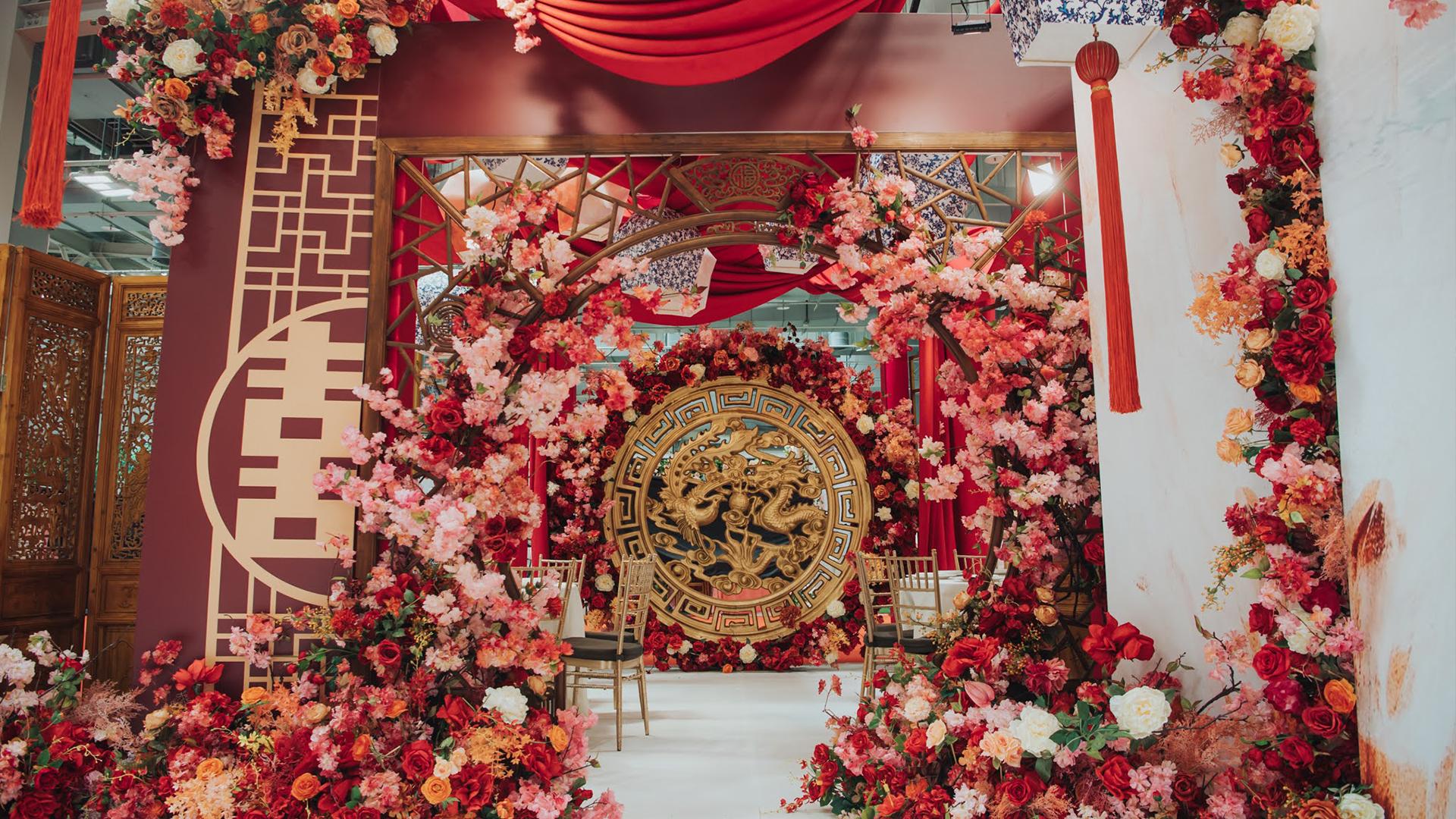 現代中國風婚禮佈置